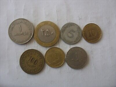 £0.99 • Buy 3  Lot Of 7 Middle East Coins (tunisia,united Arab Emirates ,israel)