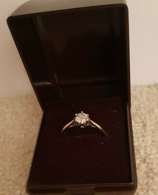 £384 • Buy 18ct Yellow Gold Solitaire Ring Diamond 0.50 Ct Ring Size Q .Value Cert £1175.00