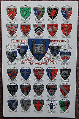 £3 • Buy Arms Of The Oxford Colleges Vintage Unused Postcard PC University Alfred Savage