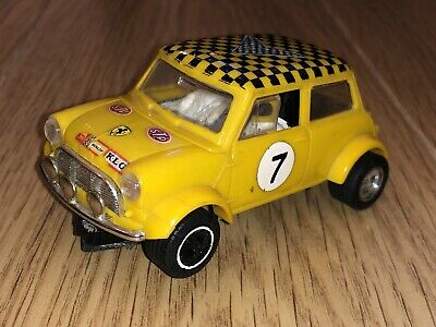 £8.99 • Buy Scalextric Triang Rally Mini Cooper C7 Yellow No7 Working Vintage