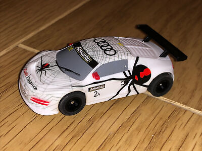 £9.99 • Buy Micro Scalextric Hornby Slot Car Audi R8 ArmorAll White Sports Car Working