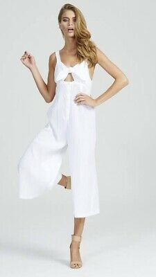 AU65 • Buy Alice McCall Forever Jumpsuit White Tie It Up Crinkle White Size 8