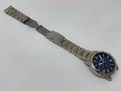 $48.95 • Buy *FOR PARTS OR REPAIR* Fossil MEN FS5273 Grant Blue Dial Men's Chronograph Watch