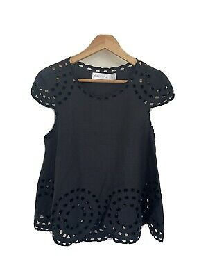 AU12 • Buy Alice McCall - Black Embroidered Top - Size 8