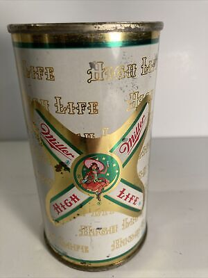 $30 • Buy 🔥vintage Miller High Life Girl On The Moon ✳️1950's Vintage Flat Top Beer Can