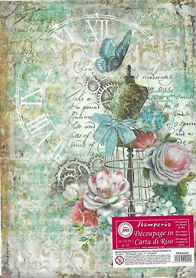 £0.99 • Buy A4 Rice Paper - Stamperia - Mannequin & Butterfly - DFSA4243 -Decoupage -1 Sheet