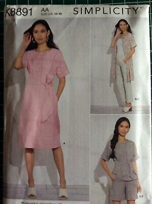 £2.90 • Buy Dressmaking Pattern For A Ladies Dress, Top, Trousers And Shorts, K8891