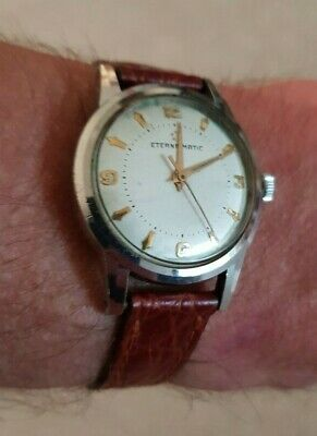 £170 • Buy Lovely Quality Eterna-matic Automatic Movement Men's Wrist Watch 1940/50s