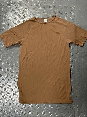 $8.32 • Buy Genuine Dutch Army Surplus Thermal Brown T-Shirt Base Layer Military Soldier UK