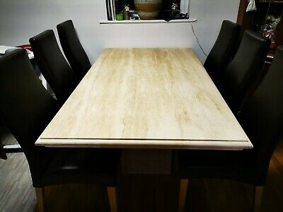£600 • Buy Travertine Large Stone Table 6-8 Seater Table Only 100x170cm