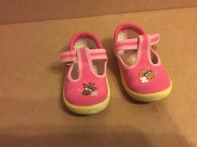 £6 • Buy Clarks Girls T Bar Sandals Miss Daisy Pink Size 5G Used EUR 21