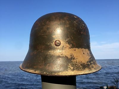 $788 • Buy Rare WW2 German M42 Helmet Former North AFRICAN Campaign Camo Liner & Chinstrap