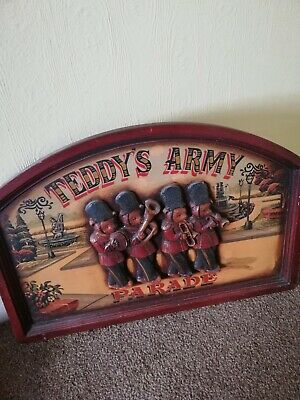 £50 • Buy Large Wooden 3d Advertising Sign-teddys Army