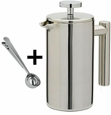 £19.99 • Buy 1000ml 8 Cup Stainless Steel Double Wall Cafetiere Filter Coffee Maker Plunger