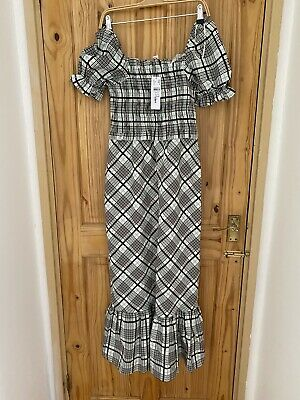 £19.99 • Buy Topshop Checked Maxi Dress Size 10