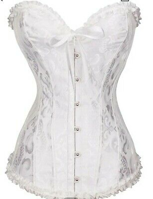 £4.99 • Buy Corsets And Basques Lace Up Lingeries Boned Plus Size Burlesque Costumes Bustier