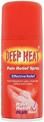 £4.95 • Buy Deep Heat Pain Relief Spray 150ml Thigh Warming & Muscles Joints Bones Back