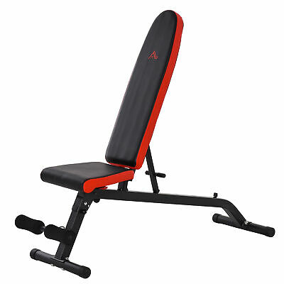 £54.99 • Buy HOMCOM Sit-Up Dumbbell Weight Bench Adjustable Backpad & Seat Foldable Exercise