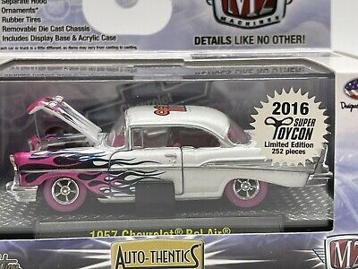$81 • Buy M2 Machines Super/Raw Chase 1 Of 252 WW 1957 Chevy Bel Air 2016 ToyCon Pearl SP