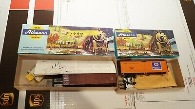 $ CDN24.36 • Buy Vintage Athearn Trains In Miniature HO Lot Of 2 Cars Morrell And Milw