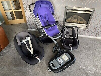 £150 • Buy Travel System With Isofix Base Quinny Buzz Xtra, Maxi-Cosi Pebble / Pearl
