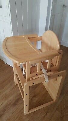 £12 • Buy Combination Highchair (All Wood) 2 In 1