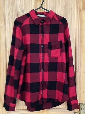 £5 • Buy Hollister Girls Checked Flannel Shirt Size S