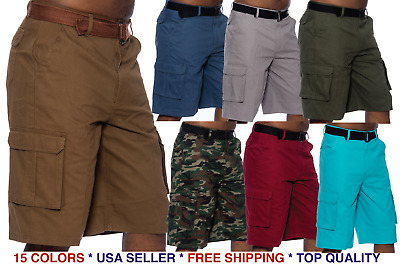 $19.98 • Buy Cargo Shorts Casual Multi Pocket Twill Breathable Belted Shorts Outdoors