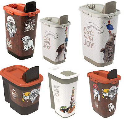 £10.81 • Buy Cat Dog Food Container Pet Litter Storage 4 Sizes XS - XXL Airtight Closing UK