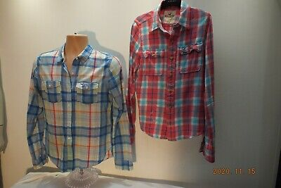 £6.99 • Buy Hollister Checked Casual Shirts, X 2, Size S