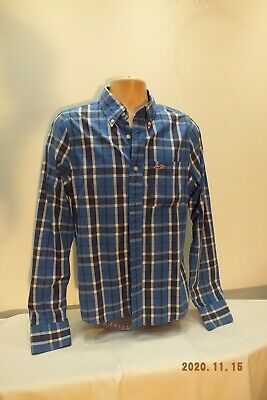 £3.99 • Buy Hollister, Size M, Blue Checked Shirt, Good Condition.