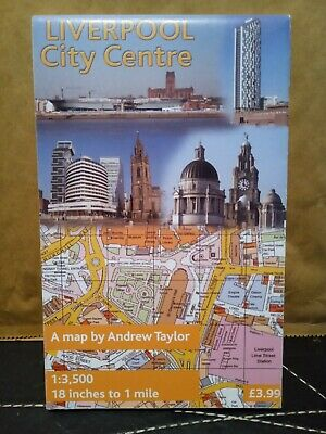 £2.84 • Buy Liverpool City Centre Map By Andrew Taylor