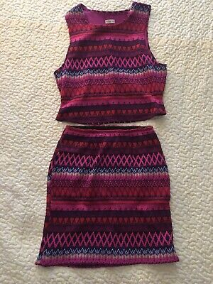 AU17.36 • Buy Hollister MULTICOLORED Knit Two Piece Dress Summertime DIFFERENT Stretch