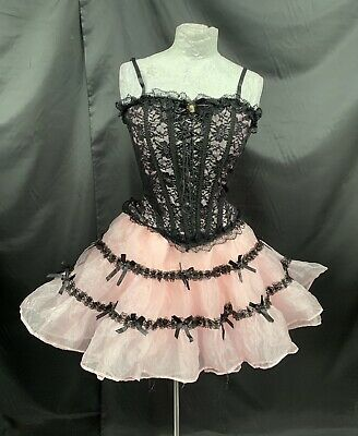 AU92.22 • Buy Pastel  Goth Raven Corset/ Skirt  Outfit  Outfit By Vintage Deadstock Sm