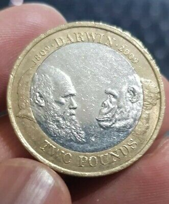£3.95 • Buy 2009 £2 Two Pound Coin 200th Anniversary Charles Darwin RARE