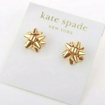$ CDN44.94 • Buy New Kate Spade Bourgeois Bow Earrings 14K Gold Fill Pave Studs Christmas Gift