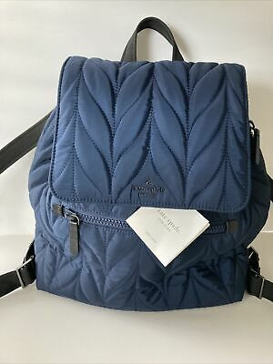 AU15.37 • Buy NWT Kate Spade Large Flap Quilted Navy Backpack Diaper Bag TAGS NOT ATTACHED