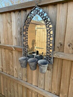 £60 • Buy Wall Mounted Arched Window Mirror Arch Gothic Outdoor Garden Vintage Rustic Home