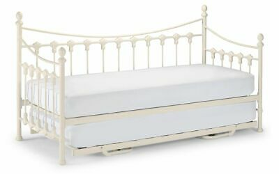 £274.99 • Buy Versailles Day Bed And Underbed Trundle In Metal White Cream Finish Julian Bowen