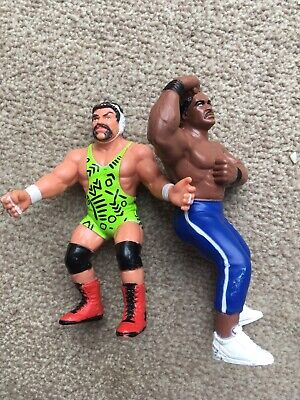 £35 • Buy Wcw Galoob Uk Exclusive Steiner And Ron Simmons Wwf Hasbro Rare