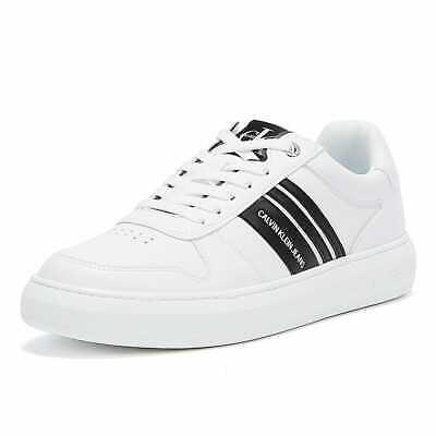 £53 • Buy Calvin Klein Jeans Cupsole Stripes Mens White Trainers Sneakers Sports Shoes