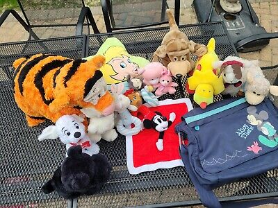 £0.99 • Buy Bundle Sale 17 Items Toys And A Mickey Bag  Tinkerbell Pillow Disney, Me To You