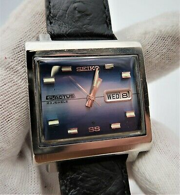 $ CDN250.77 • Buy SEIKO 5 Actus 6106-5440 ,23j,SS Automatic Rectangle Day/Date MENS WATCH,S-6 L@@K