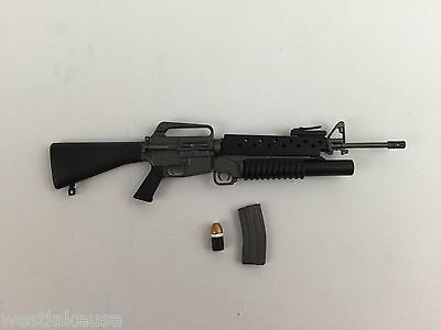 $29.99 • Buy M16A1 Grenade Launcher Assault Rifle 1/6th Scale Action Figure Accessory