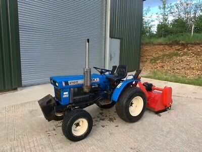 £5250 • Buy Iseki 2160 4wd Compact Tractor With Winton H.Duty Flail Mower