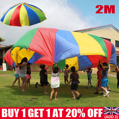£10.69 • Buy 2M Kids Play Parachute Children Rainbow Large Outdoor Game Exercise Sport Toy UK