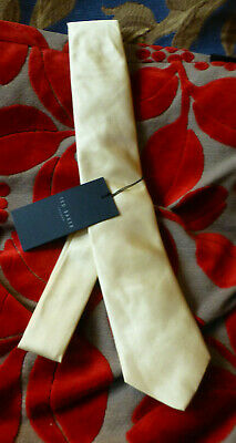 £4.99 • Buy Ted Baker100% Silk Tie Classic 60  Long 2.5ins Wide Pale Yellow (BNWT) RRP £40