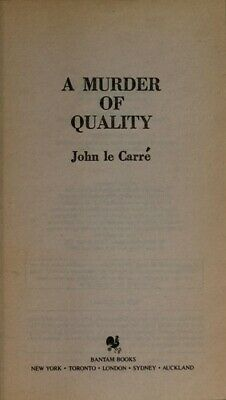 £4.01 • Buy A Murder Of Quality Mass Market Paperbound John Le Carre