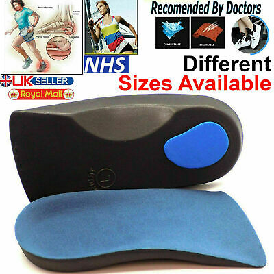 £3.99 • Buy 3/4 Orthotic Arch Support Insoles For Plantar Fasclitis Fallen Arches Flat Feet