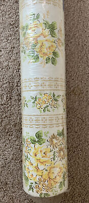 £11.58 • Buy 1940's 1950s Floral Vintage Wallpaper Yellow Roses 71 Square Feet  Unopened